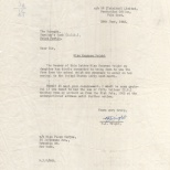 Bank Letter, NJ to Manager (re Maureen), June 28, 1962