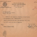 Certificate of Good Conduct, June 22, 1966