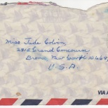 Envelope (with Penny Commisiong Stamp), Daddy to Maureen, October 27, 1978 (1 of 1 with letter)