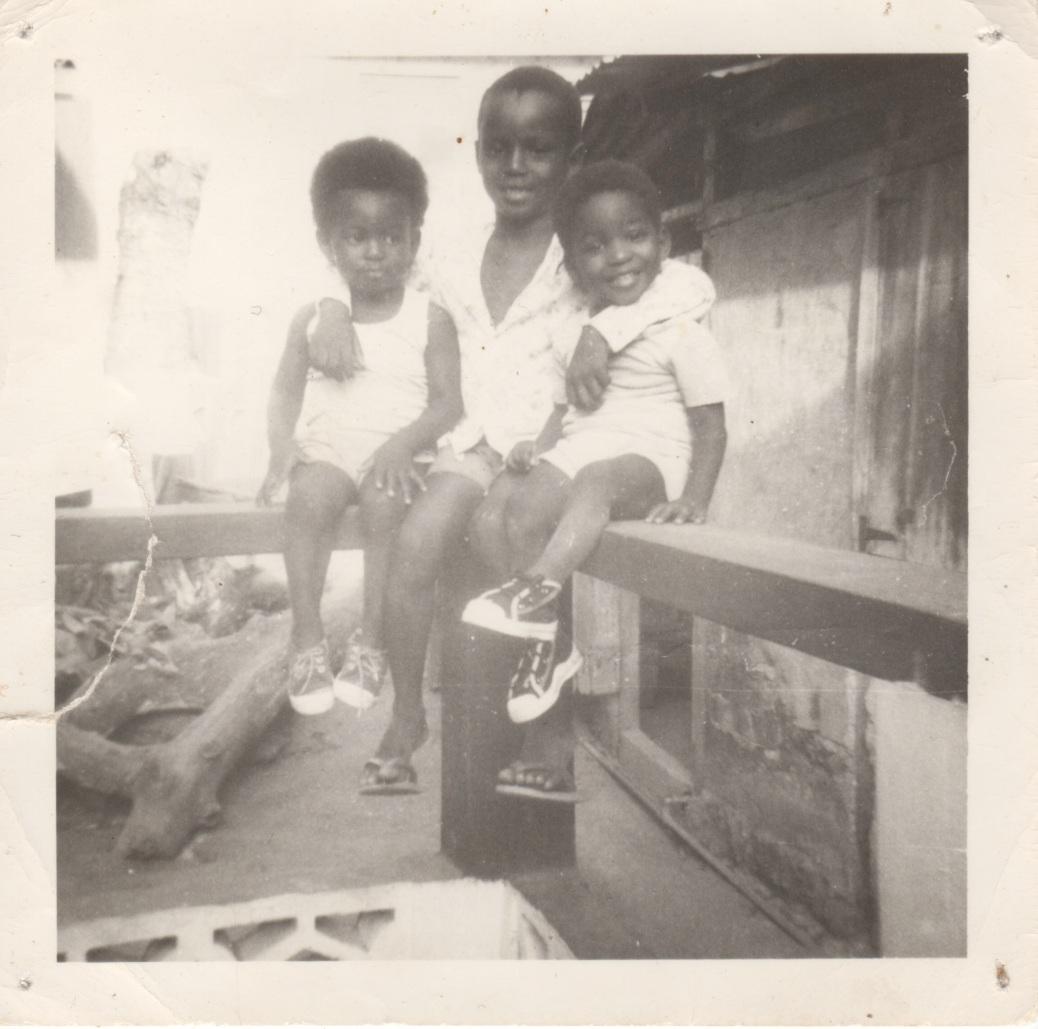 Me, Dionne, and Noel, Carib Street, San Fernando, ca 1977