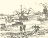 American Dredger at Work, at Buhio; Labourers Returning Home from Work, June 23, 1888, 697