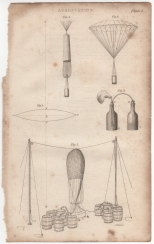 Aerostation, Portable Encyclopaedia, 1826