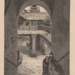 Court and Stairway of a Mexican House, The Century, Vol. 23, 1881-2