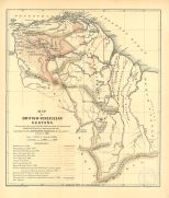 Map of British-Venezuelan Guyana, Colombian and Venezuelan Republics, 1900