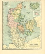 Map of Denmark, The Chambers Encyclopaedia, Vol. 3, 1908