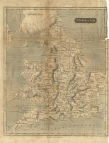 Map of England, London General Gazetteer, 1825