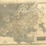 Map of Europe, London General Gazetteer, 1825