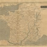 Map of France, London General Gazetteer, 1825