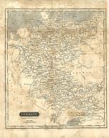Map of Germany, London General Gazetteer, 1825