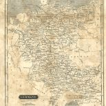 Map of Germany, London General Gazetteer, 1825