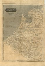 Map of Holland and the Netherlands, London General Gazetteer, 1825