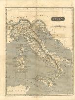 Map of Italy, London General Gazetteer, 1825
