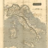Map of Italy, London General Gazetteer, 1825