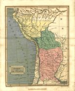 Map of Peru and La Playa, London Encyclopaedia, Vol. 17, 1829