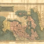 Map of Polar Regions Including British Nth America &c, London Encyclopaedia, Vol. 17, 1829