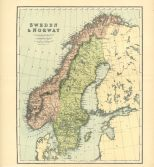 Map of Sweden & Norway, The Chambers Encyclopaedia, Vol. 10, 1908