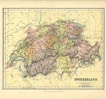 Map of Switzerland, The Chambers Encyclopaedia, Vol. 10, 1908