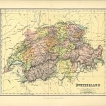 Map of Switzerland, The Chambers Encyclopaedia, Vol. 10, 1908