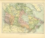 Map of the Dominion of Canada, The Chambers Encyclopaedia, Vol. 2, 1908