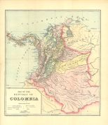 Map of the Republic of Colombia, Colombian and Venezuelan Republics, 1900