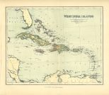 Map of the West India Islands, The Chambers Encyclopaedia, Vol. 10, 1908