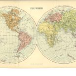 Map of the World, The Chambers Encyclopaedia, Vol. 10, 1908