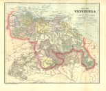 Map of Venezuela, Colombian and Venezuelan Republics, 1900