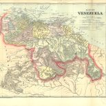 Map of Venezuela, Colombian and Venezuelan Republics, 1900