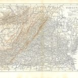 Map of Virginia, Encyclopaedia, Vol 28, 1911
