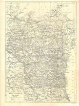 Map of Wisconsin, Encyclopaedia, Vol 28, 1911