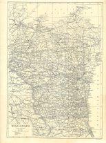 Map of Wisconsin, Encyclopaedia, Vol 28, 1911
