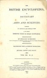Title, British Encyclopedia, Vol 3, 1809