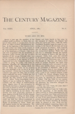 Tunis and its Bey, The Century, Vol. 23, 1881-2